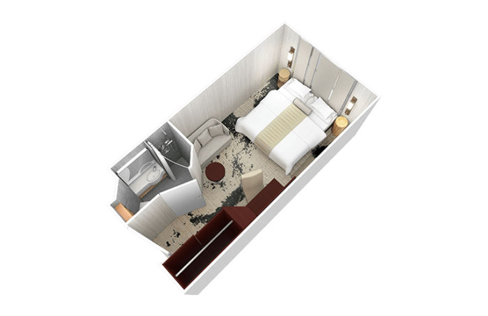 Desire Venice Cruise | Club Interior Stateroom