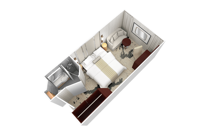 Desire Venice Cruise | Club Oceanview Stateroom